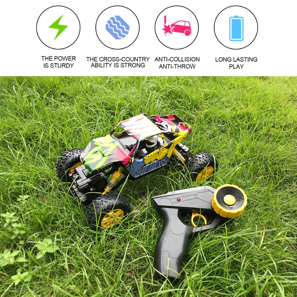 Image 5 - Remote Control Car 2.4GHz 4WD Off Road High Speed RC Car 1/18 Dual Motors Rock Crawler Graffiti Racing Monster Truck-in RC Cars from Toys & Hobbies