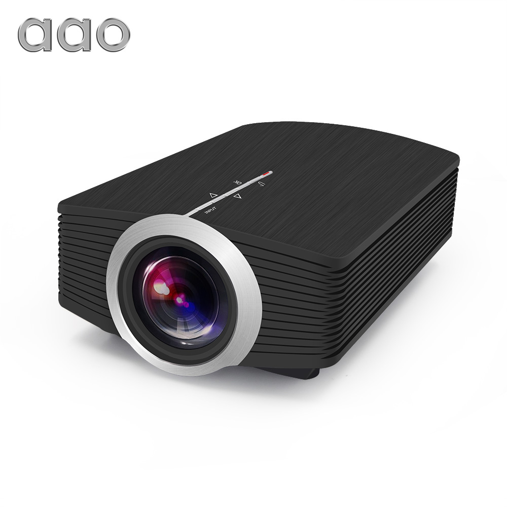 AAO YG500 Mini Projector 1800 Lumens Portable 854*480 LCD Projector Support 1080P Portable HDMI Home Cinema LED 3D Projector стоимость