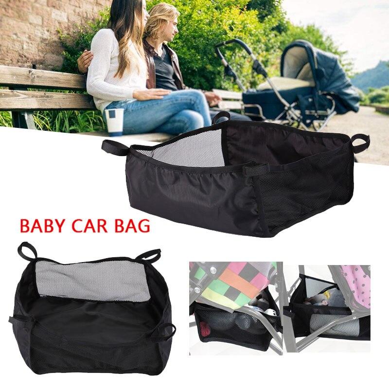 Stroller Bottom Storage Basket Infant Trolly Washable Bags Accessories Newborn Cart Portable Hanging Basket