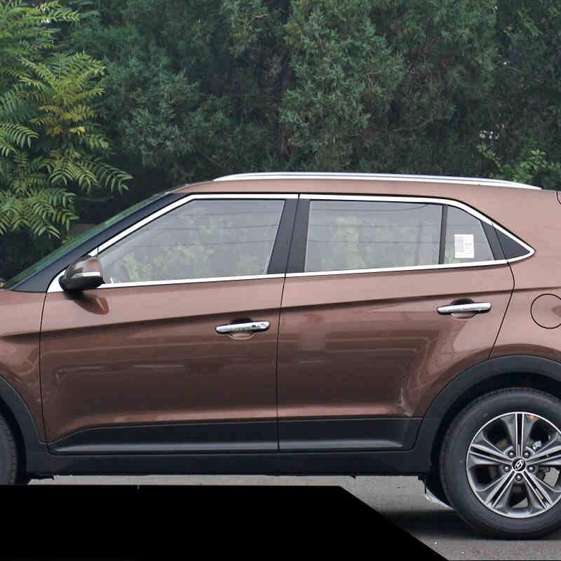 Lsrtw2017 304 Stainless Steel Car Window Trims For Hyundai Creta