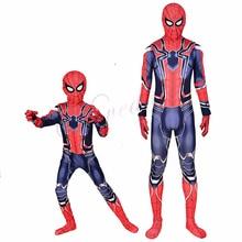 Halloween Costume For Kids Spider Man Amazing Spiderman Iron Spider Costume Kid Adult Cosplay Suit Children Superhero Adult Men цены