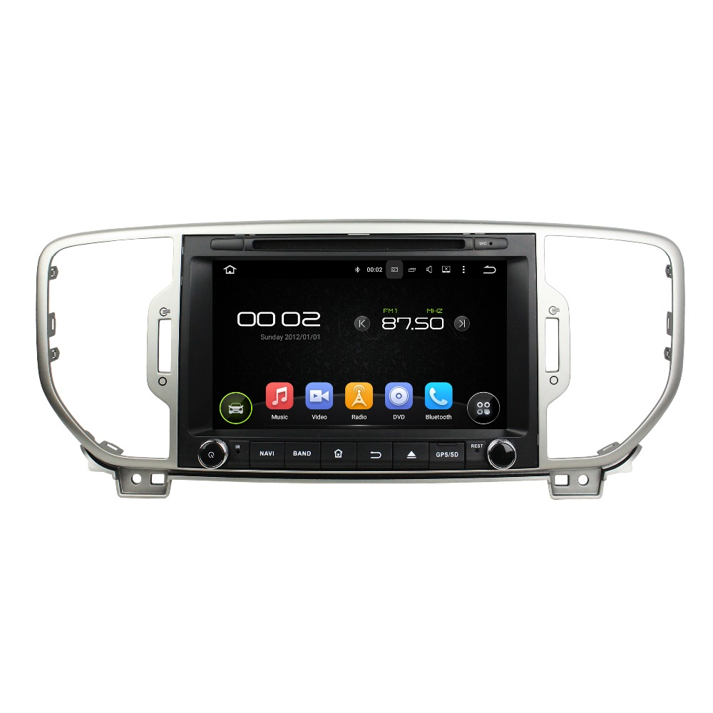 8 Octa core Android 6 0 Car DVD Player For Kia SPORTAGE 2016 Car Video Audio
