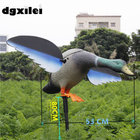 2017 Xilei Wholesale Outdoor Russian The Drake PE Material Bait Hunting Duck Decoys Simulation With Magnet Spinning Wings