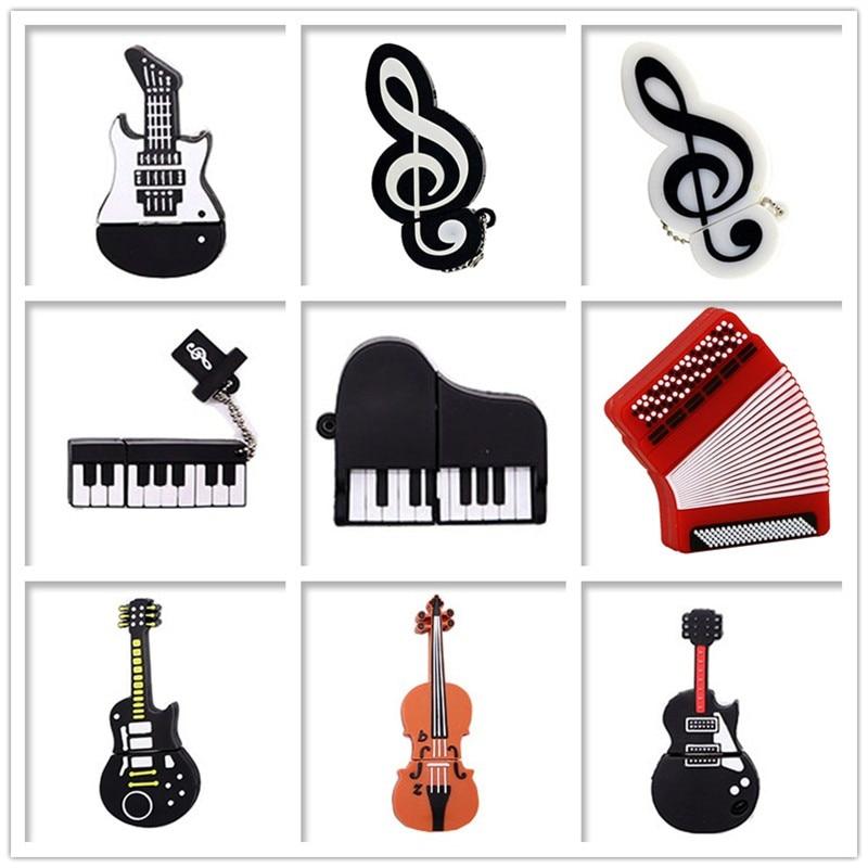 USB Flash Drive Musical Instrument Pen Drive 4GB 8GB 16GB 32GB 64GB Guitar/piano Memory Stick Cteative Gift Pendrive Cle Usb