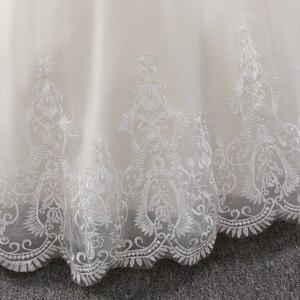 Image 5 - Fansmile جديد فاخر خمر جودة الدانتيل فستان الزفاف 2020 الكرة ثوب الأميرة الزفاف فساتين الزفاف Vestido De Noiva FSM 557F