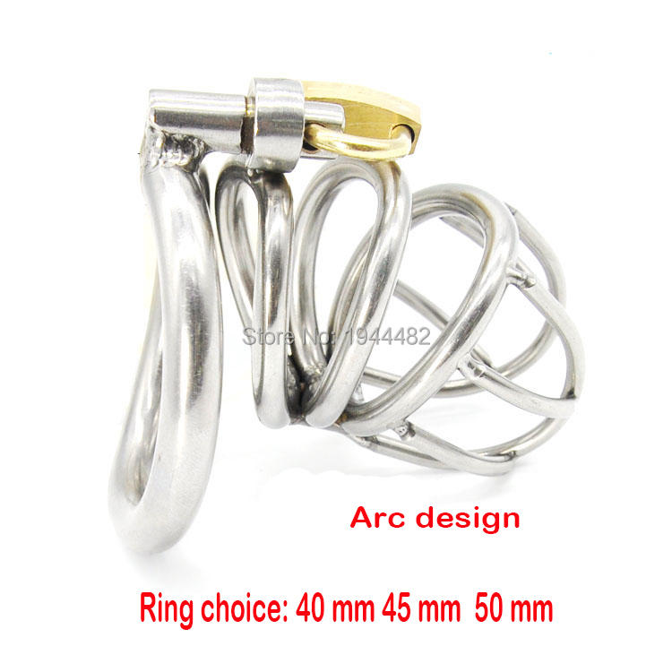Sex Toys Male Chastity Belt Arc-shaped Cock Ring Stainless Steel Chastity Device Penis Restraint Cage Adult Products 2016 adult male max security steel trap locking male chastity belt with cock cage and large crotch panel cbt slave restraint sex