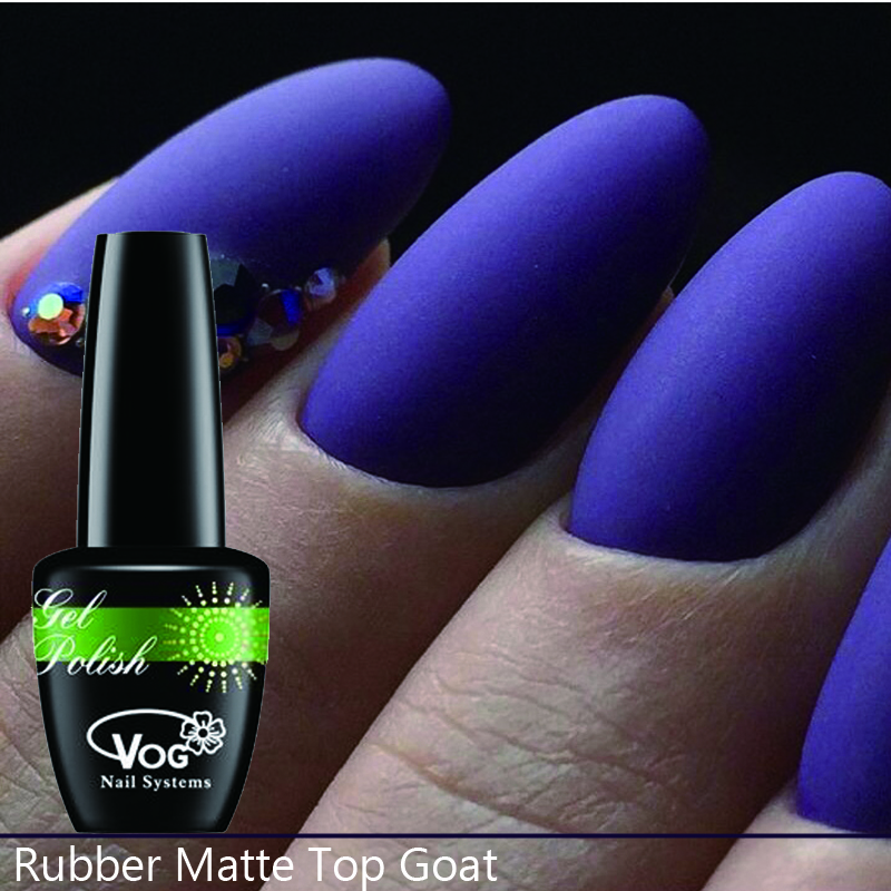 15ml 2pcs Free Shipping Gel Nail Polish Hot Sale Rubber Matte Top Coat Gel Nail Polish gel varnish