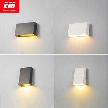 מודרני מנורת קיר חיצונית עמיד למים קוביית 3/6W COB מקורה LED קיר אמבטיה גוף תאורת מנורה שליד המיטה מרפסת ZBW0003