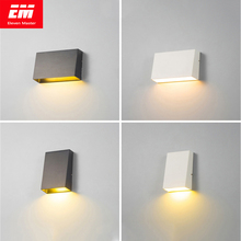 โคมไฟติดผนังกลางแจ้งโคมไฟกันน้ำCube 3/6W COBในร่มLED Light Fixtureโคมไฟข้างเตียงporch ZBW0003