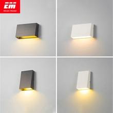 Lámpara de pared exterior moderna, impermeable, con forma de cubo, 3/6W, COB, para interior, accesorio de iluminación de baño, lámpara de mesita de noche, porche, ZBW0003