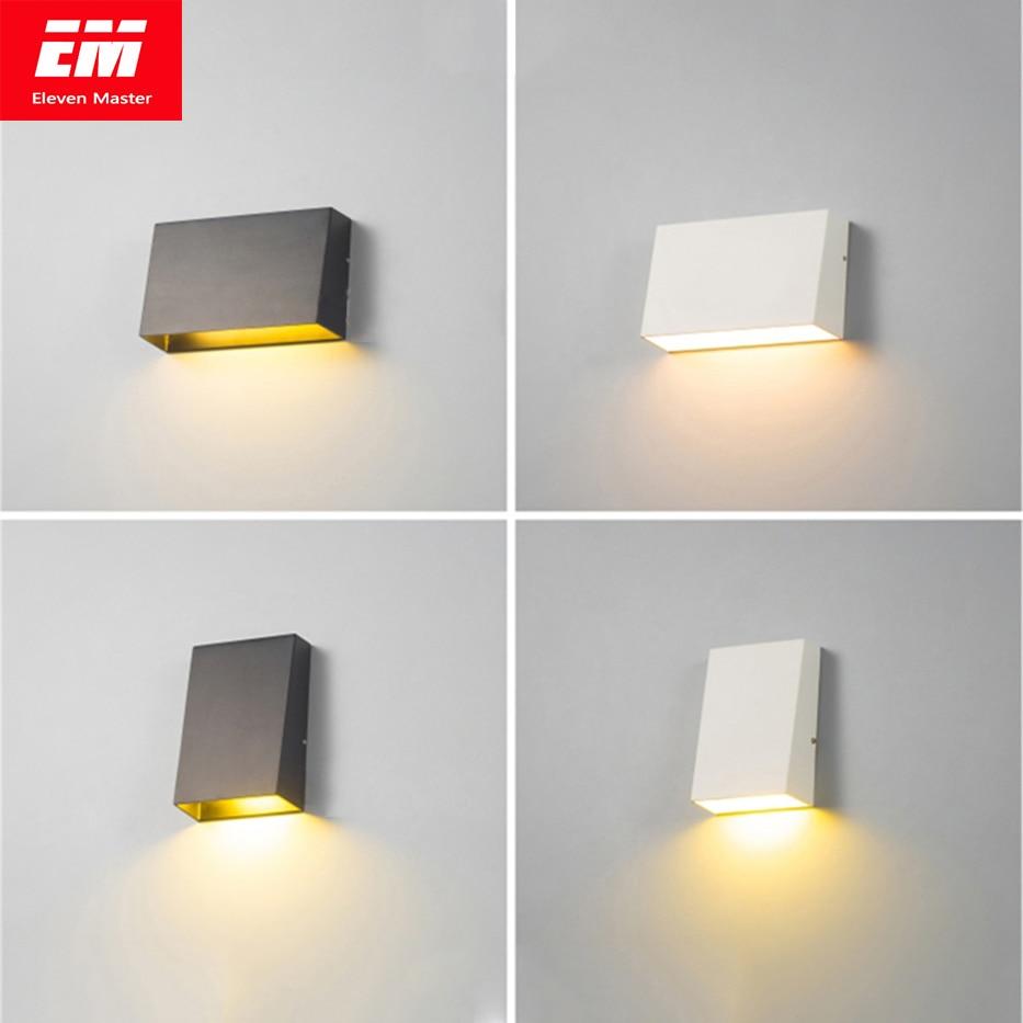 Modern Outdoor Wall Lamp Waterproof Cube 3/6W COB Indoor LED Wall Light Fixture Bathroom Lighting Bedside Lamp Porch ZBW0003