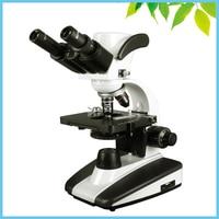 Галогенные лампы освещения 40X 100X 400X 1000X бинокулярный Биологический микроскоп со 1.3MP цифровой Камера