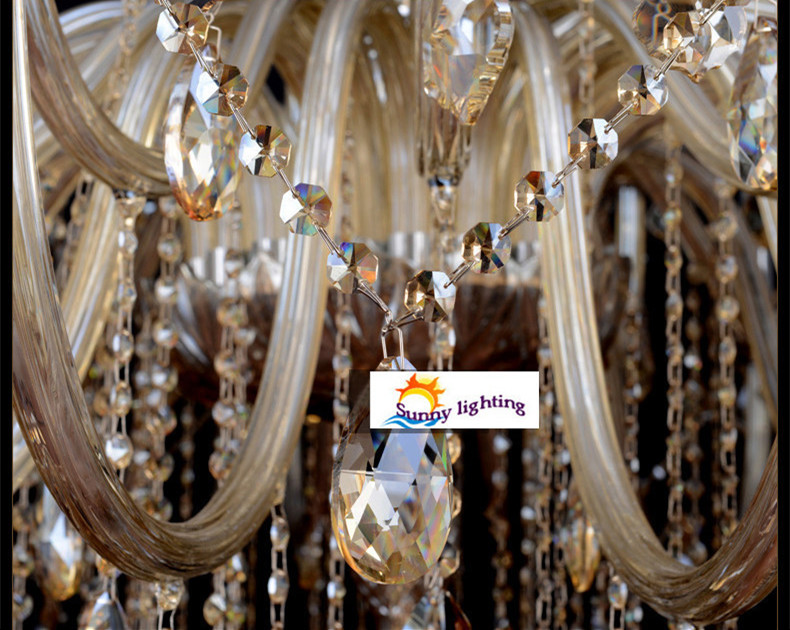 Aliexpress Buy Extra large retro cognac crystal light – Extra Large Chandeliers