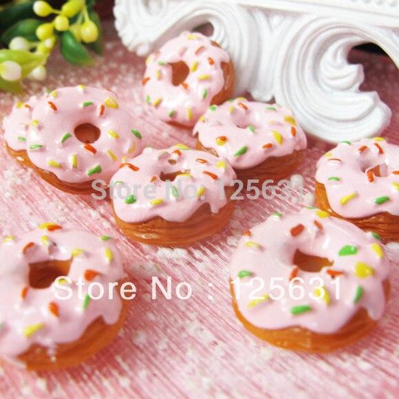 Kawaii Resin Flatbacks DIY Artificial Sweets Dounts Food Cabochon Scrapbooking Embellishment Decoration For Phone Case: 20*20mm