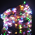 Hot sale AA Battery Powered 10M 100 led Christmas Holiday Wedding Party Decoration Festival Copper Led String Fairy Light Lamp