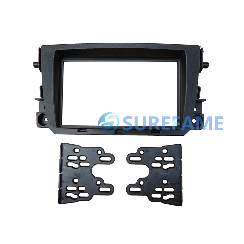 Double Din Car Fascia for Benz Smart Fortwo 2011 Radio GPS Stereo Panel Dash Mount Kit