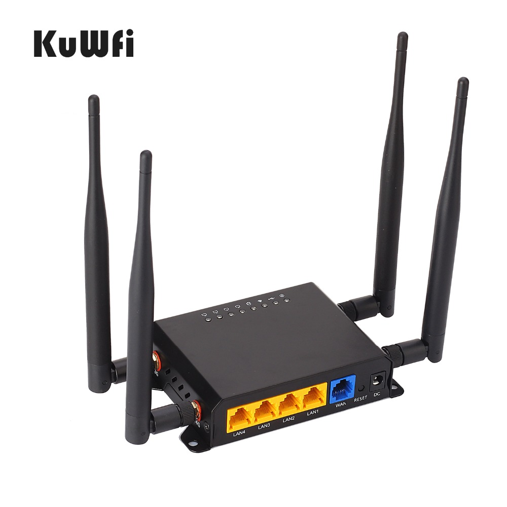 OpenWrt 300Mbps Wireless WiFi Router Wifi Repeater 3G 4G LTE Router Strong Wifi Signal Router With Sim Card Slot kuwfi 3g 4g sim card slot wifi router openwrt 300mbps high power wireless router repeater with 4 5dbi antenna