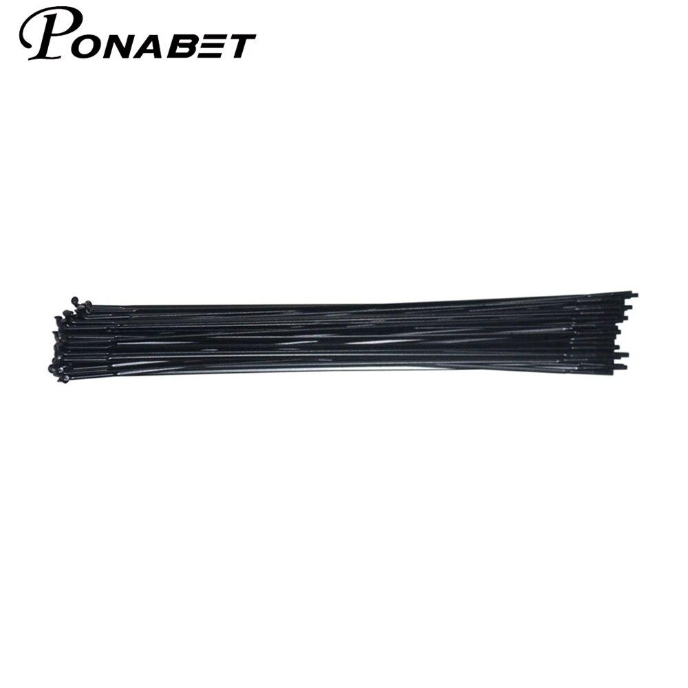 PONABET Super Light  Black CN Aero 424 Spoke With Alloy Nipples J-bent/straight Pull Spoke