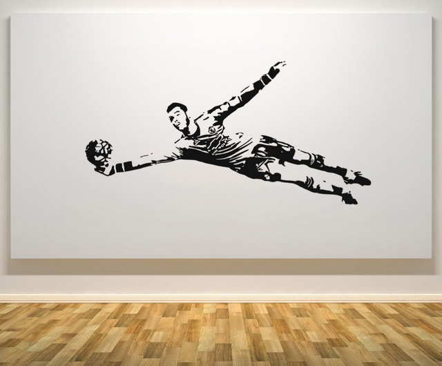 Goalkeeper Football Decal Wall Decals Picture Removable Wall Stickers Home  Decor Living Room Waterproof Soccer Star