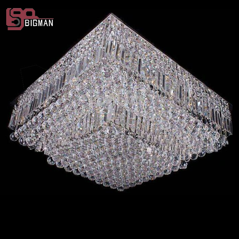 hot sales new square crystal chandelier foyer light L60*w60*H30cm modern home lighting hot mds75d 16 home mudule new