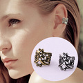 1 Pc Punk Rock Ear Clip Cuff Wrap Earrings No Piercing-clip On Silver Gold Bronze Women Men Bijoux Femme Boucle D'oreille Clip