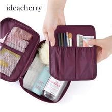 ideacherry Fashion Women Cosmetic Bag High Capacity Unisex Casual Travel Portable Multi Functional Storage Waterproof Wash Bag