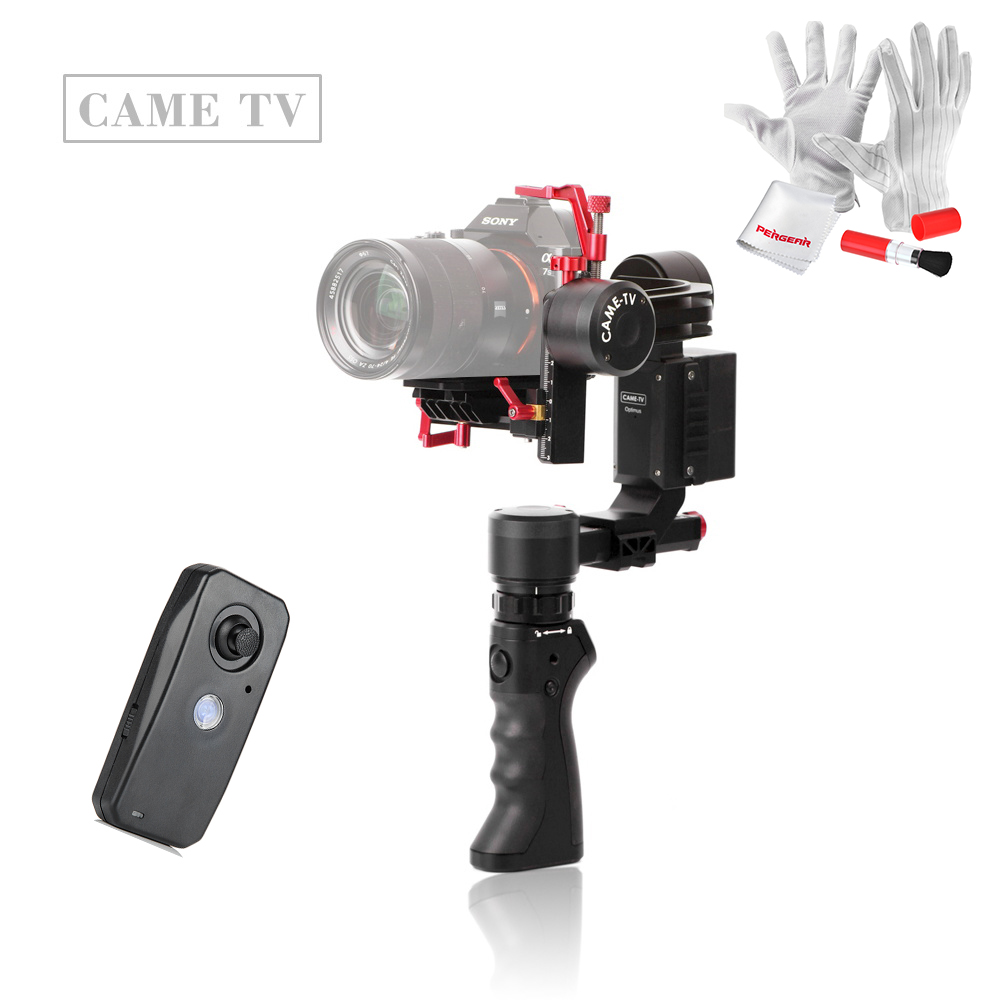 CAME TV Optimus 3 Axis Gimbal 360 Rotation Stabilizer Sigle-Dual Handle Remote Control Suit Case for Sony a7 Panasonic GH4 BMPCC new for panasonic tv remote pan 918 for n2qayb000485 n2qayb000100 n2qayb000221