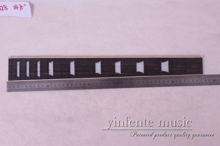 1 pcs 24.75 guitar ebony wood Guitar Fretboard Fingerboard Fretless Guitar parts star INlaid proac response d 48 ebony