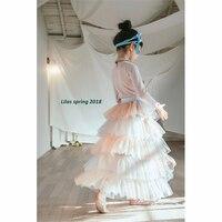 Baby Favorite Girl Princess Skirt 2018 New Girl Long Skirt High Fashion Kids Tulle Skirt High