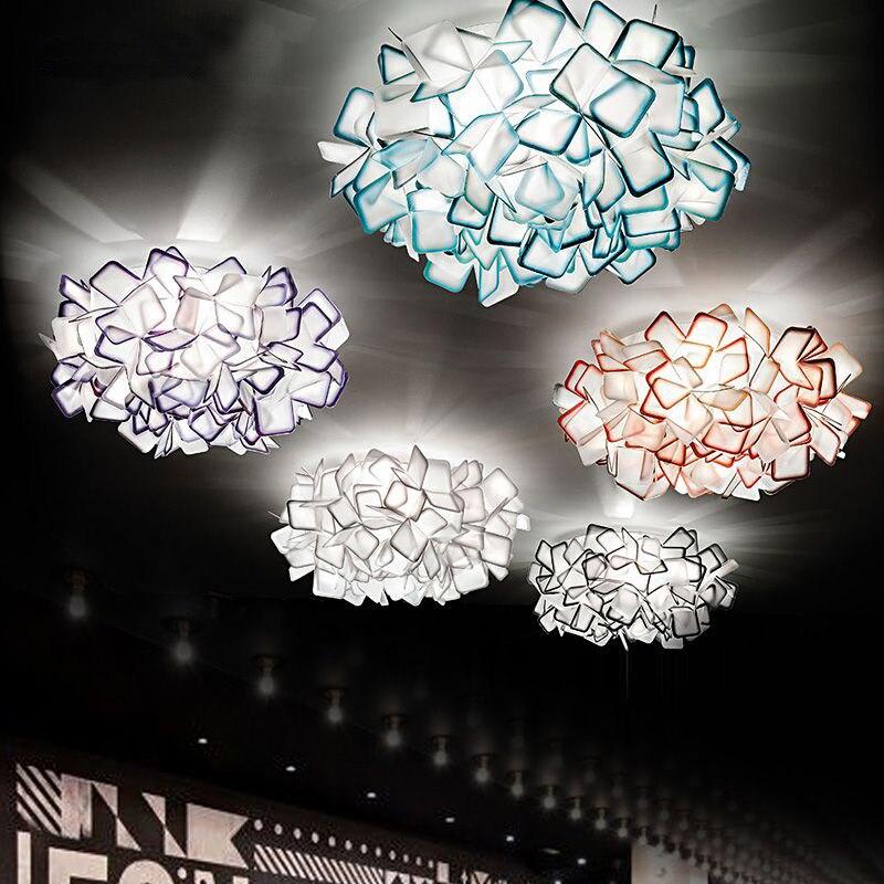 Современные круглый светодиодный потолочный светильник E27 Книги по искусству Decor творческий лепестки цветка Спальня свет Акриловые Потоло