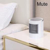 Mini Portable Air Conditioner Fan USB Water Cool Cooling Humidifier Night Light Miniature Desktop Mute Rapid Cooling