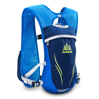 AONIJIE 5.5L Men Women Trail Running Hydration Backpack Outdoor Sports Hiking Racing Cycling Camping Pack Marathon Rucksack Bag