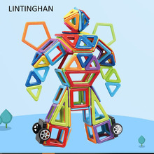 Ever changing magnetic block piece of magnetic block ABS plastic magnet assembly building children's educational toys LIN TING H стоимость