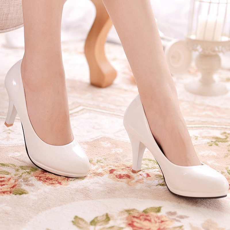 sports shoes b33ee ede3e US $13.77 34% OFF|2018 Women's Pumps Super High Heels Ladies Slip on Plus  Size Red Bottom Shoes Woman Weddding Elegant Sexy Classic Best Sellers-in  ...
