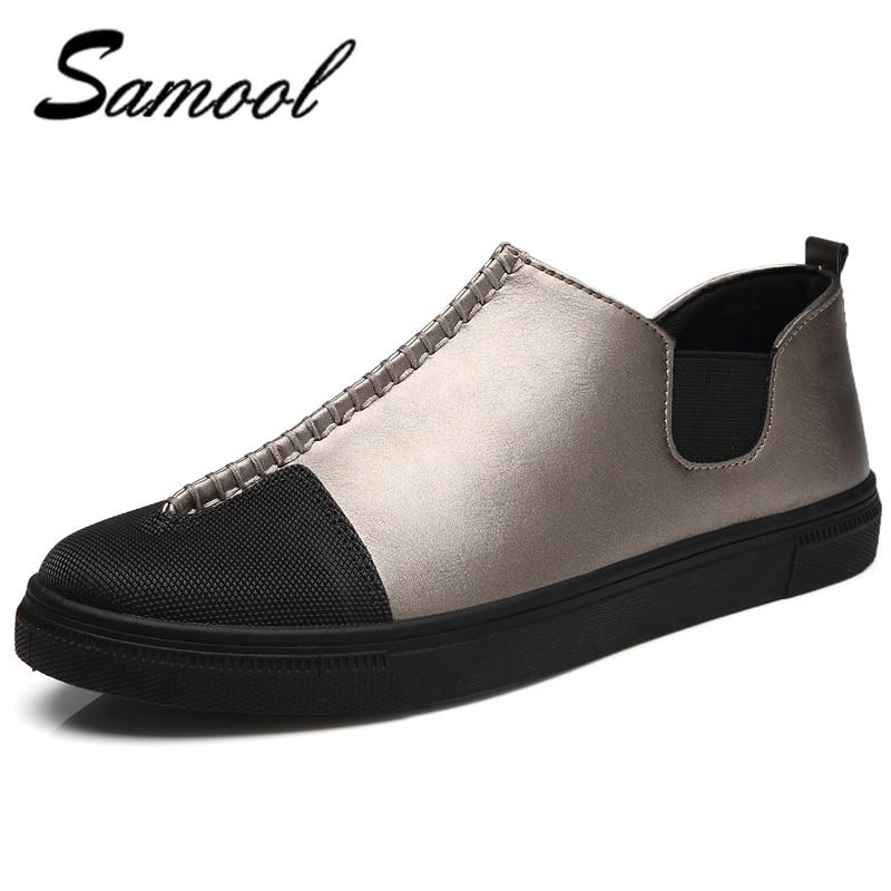 håndlaget menn sko høy kvalitet lær casual kjøring myke sko menn - Herresko