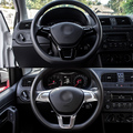 Car Steering Wheel Trim Cover Decoration for VW Volkswagen Golf MK7 Polo 2014 2015 High Quality ABS Plastic Decorative Stickers