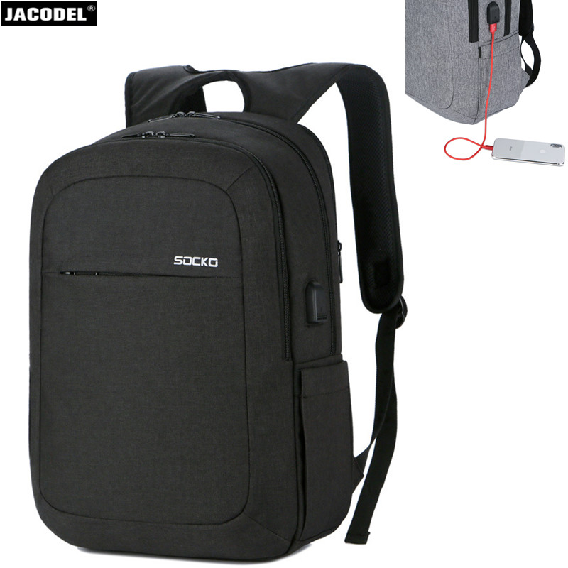 все цены на Jacodel 17 Laptop Backpack 15 15.6 17 17.3 inch Laptop Bag Waterproof Notebook Bag for Men Women USB Charge Computer Bag 17 17.3 онлайн