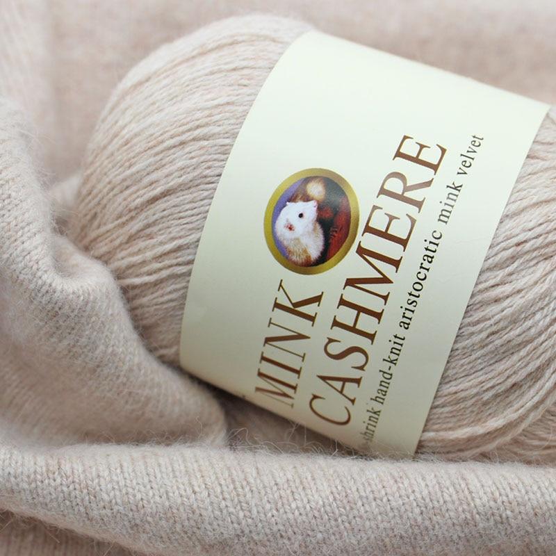 Best Quality Mink Wool Yarn Mongolian Soft Cashmere Yarns Hand-knitted Crochet Yarn for Knitting Ball Scarf Yarn Baby Knit sweat bracelet