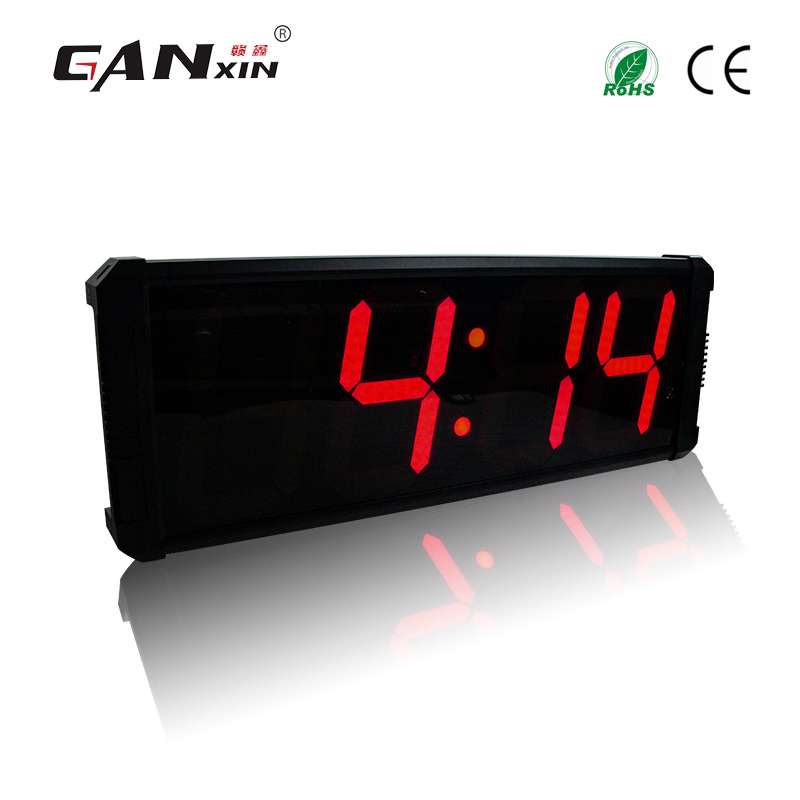 Ganxin APP control modern designed 8 Inches 4 Digits Large wall Clock Led countdown timer