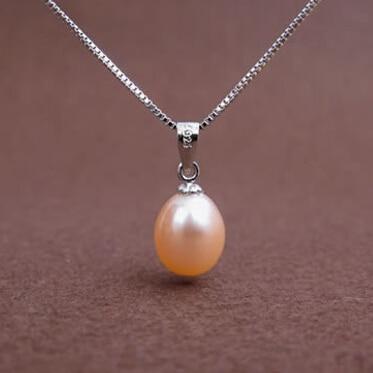 ZHBORUINI Gran Venta Collar de Perlas 9-10mm Forma de Gota Colgante - Bisutería - foto 5