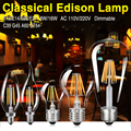 TSLEEN E27 E26 E14 E12 Retro Edison Lamp Filament LED Bulb Dimmable Vintage Candle Flame Light Super Bright Big Promotion
