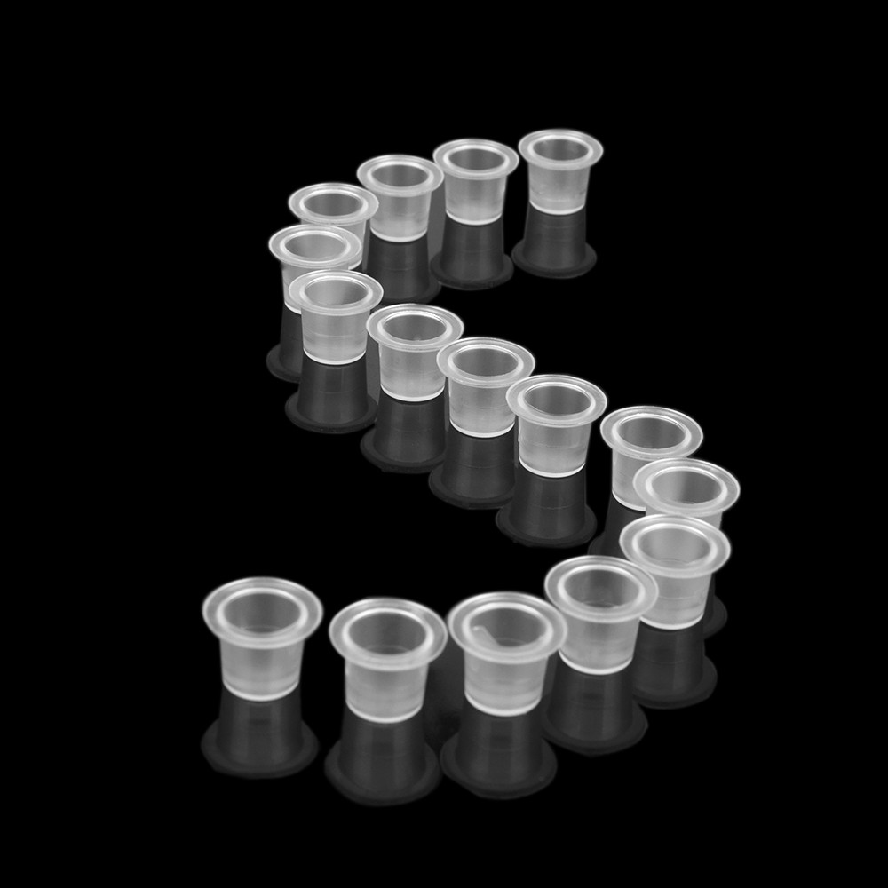100 PCS Disposable Caps Tattoo Ink Cups Tattoo Suppies Pigments Cups Clear Permanent Makeup Supply S Equipment Accessory in Tattoo accesories from Beauty Health