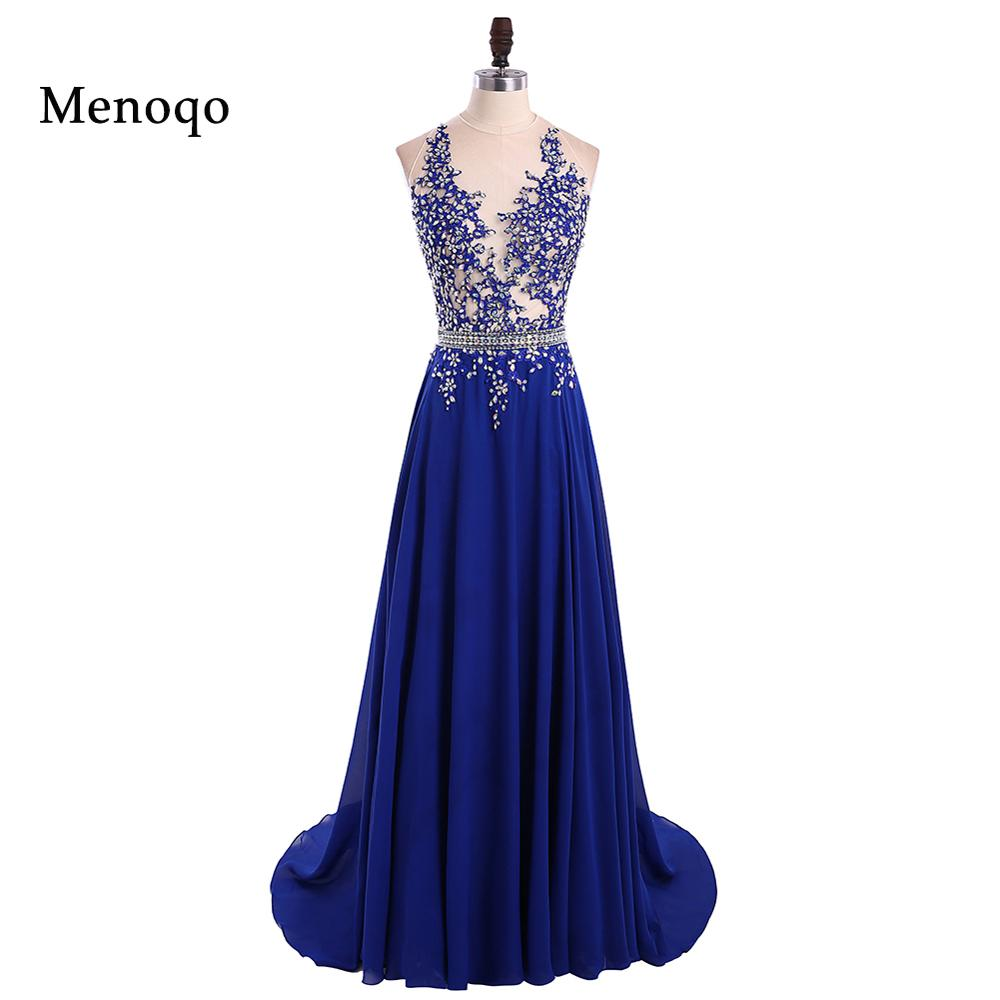 1191w Vestido De Festa Longo Sparkly Beaded Royal Blue