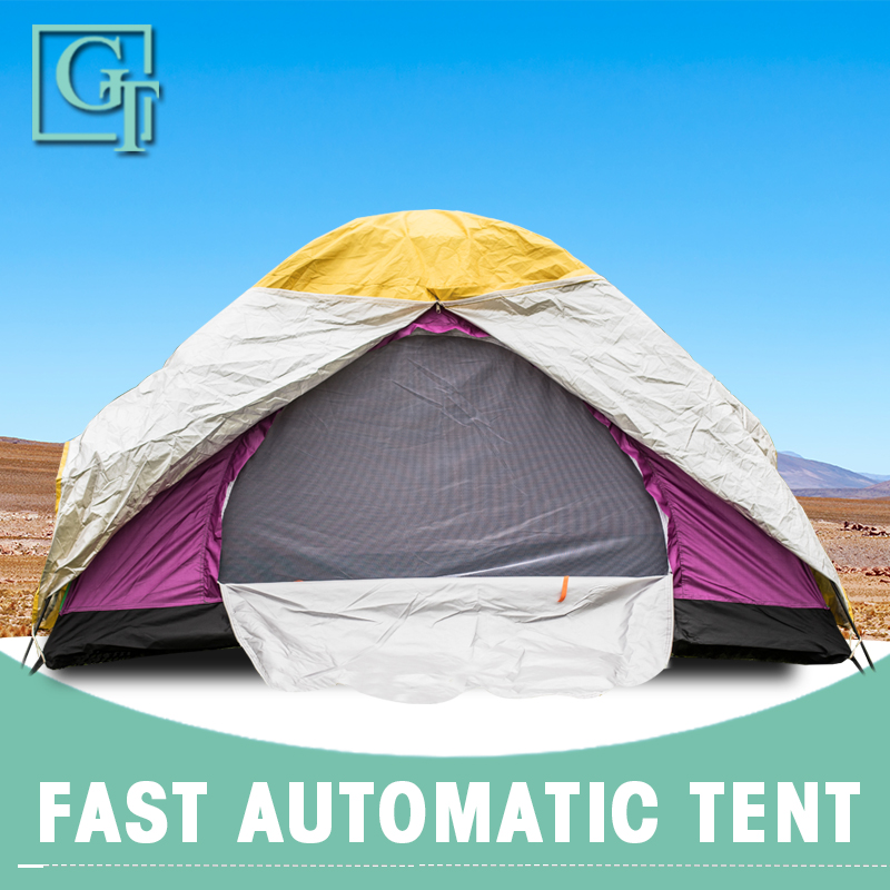 GT 3-4 Person Double Layer Camping Tent Waterproof Tents Ultralight Outdoor Hiking Picnic Anti UV Sun Shade Tent TF-16/17