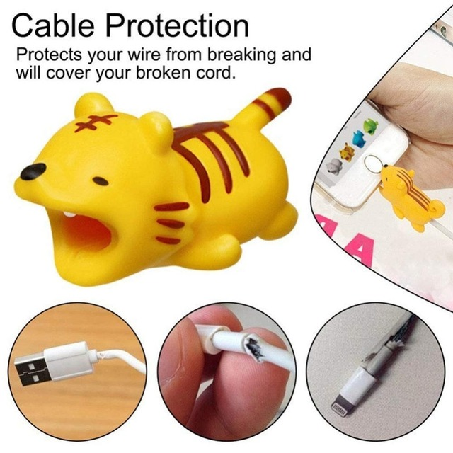 Dropshipping Mini Cartoon Charging Cable Protector for iPhone USB Cable