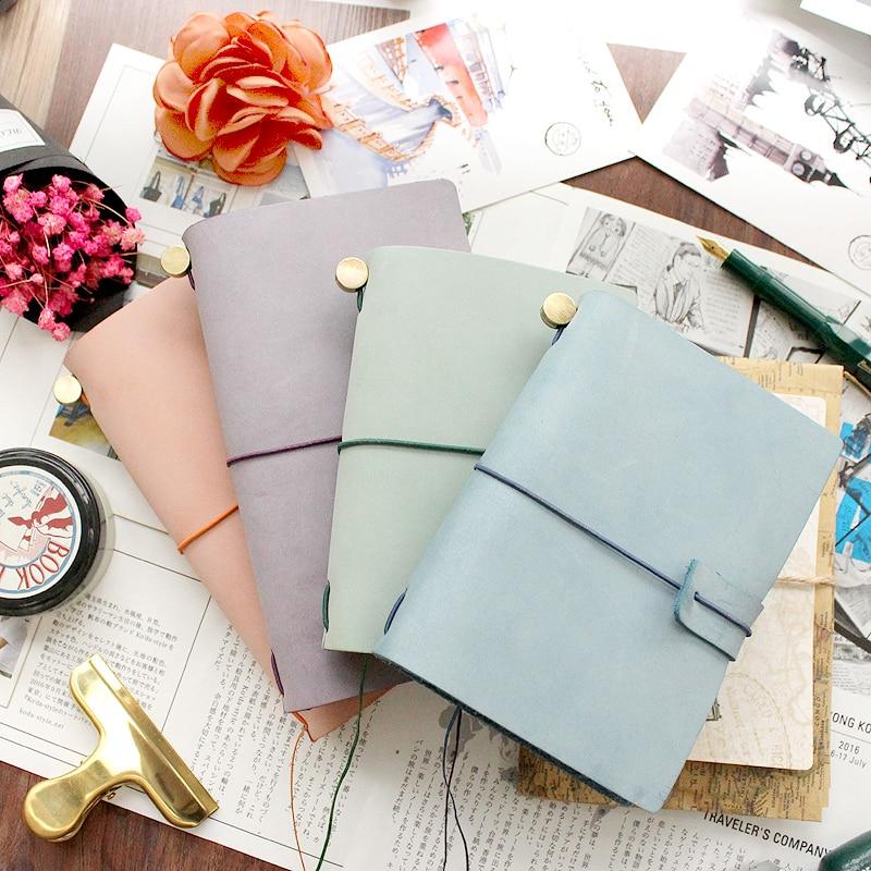 Fromthenon Cestovatelé Notebook Originální kožený obal Planner Vintage Retro osobní diář Kancelář škola školní potřeby Dárky Supplie