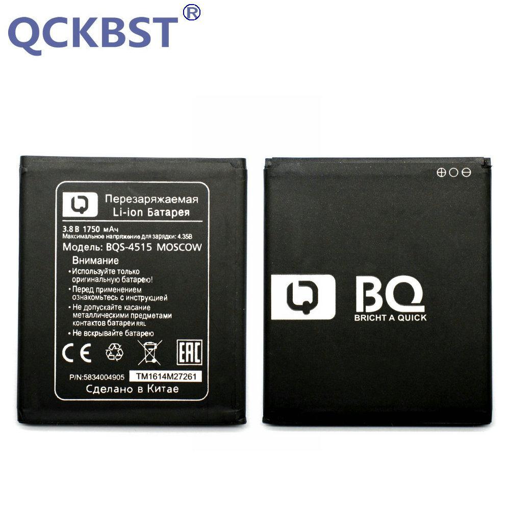 QCKBST Nouveau 1750 mAh BQS-4515 Batterie De Remplacement Pour BQ Mobile BQS 4515 BQS4515 MOSCOU Baterij Batterie En stock code De Suivi