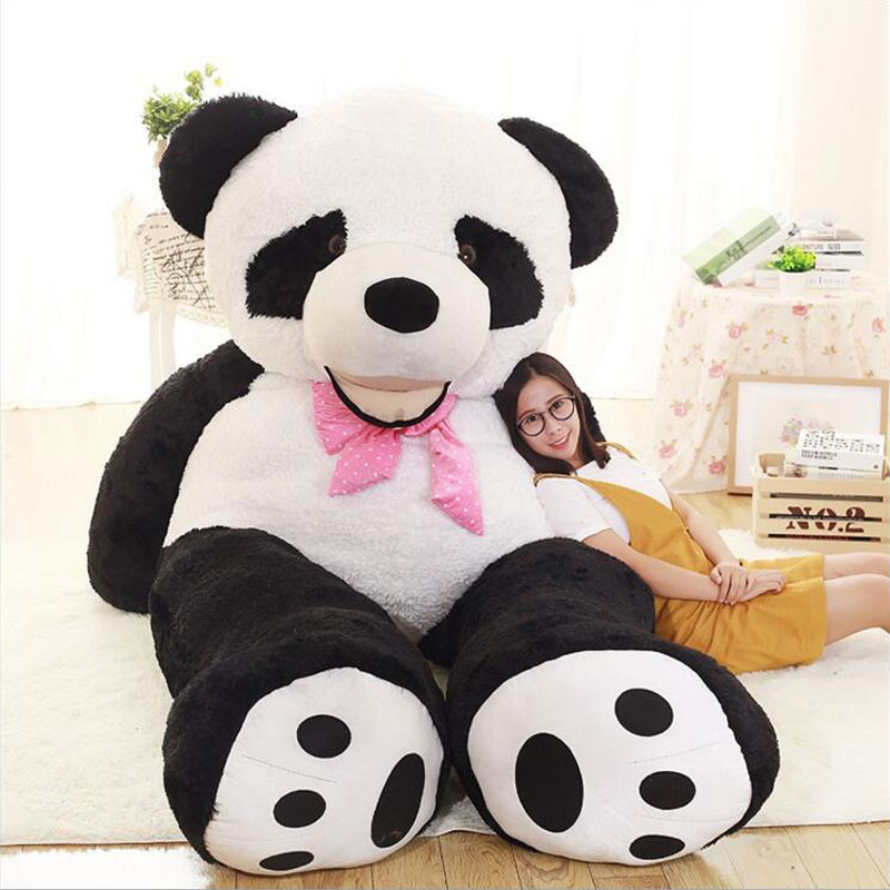 160CM Panda Doll Gentle Touch Panda Bear Stuffed Dolls Plush Kids Cute Panda Bear Toys Bear Doll Plush Toy For Baby Gift m mism 2pcs new rhinestone bead hair elastic band hair accessories rubber tie gum ponytail holder scrunchy for women girls