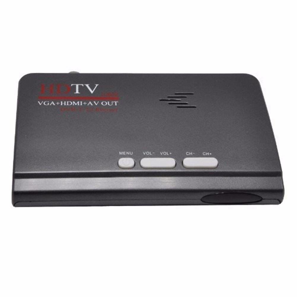 DVB-T DVB-T2 receiver Digital Terrestrial HDMI 1080P DVB-T DVB-T2 VGA AV CVBS TV Tuner Receiver With Remote Control EU Plug