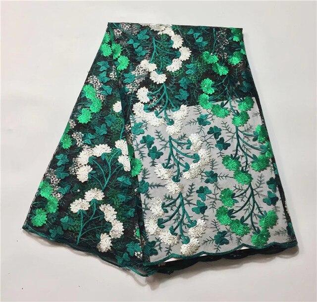 아프리카 레이스 높은 품질의 아프리카 명주 프랑스어 레이스 원단 웨딩 드레스 골드 코드 자수 나이지리아 레이스 직물